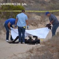 Le dieron el tiro de gracia y luego quemaron su cuerpo en Guerrero Negro