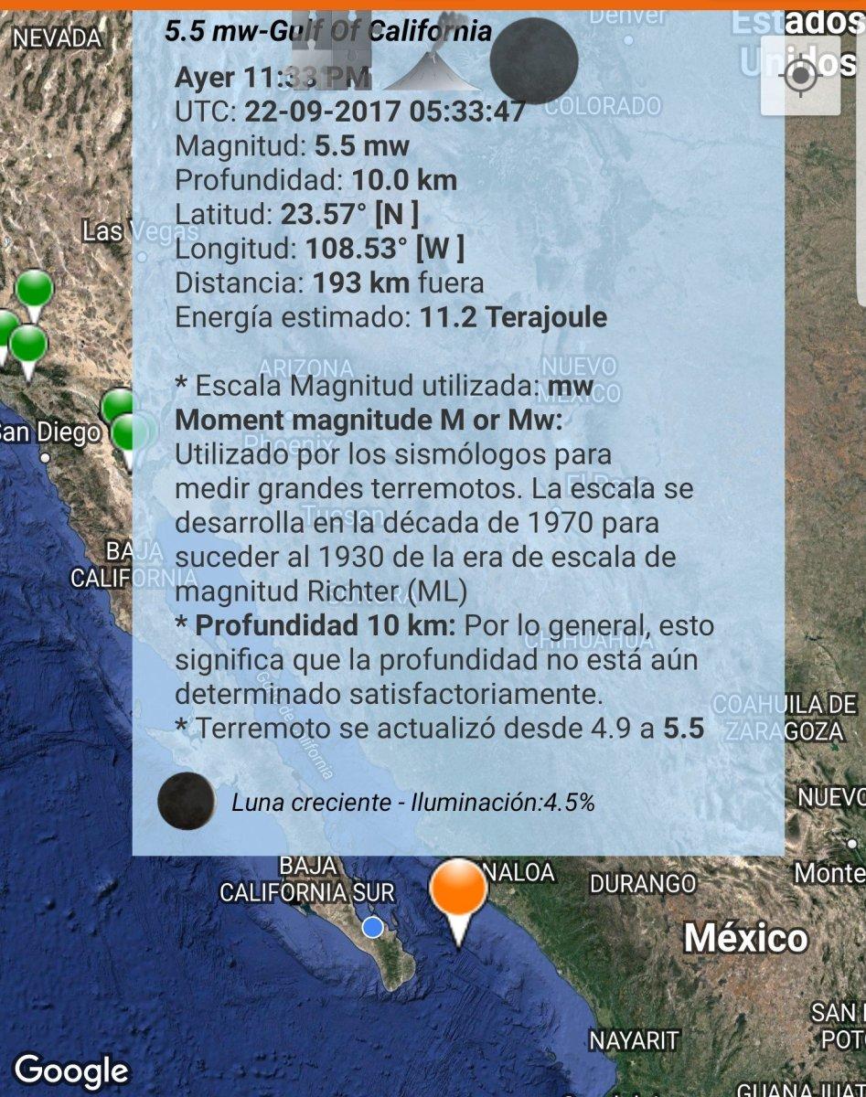Terremoto en el Golfo de California a 133 km de San José del Cabo